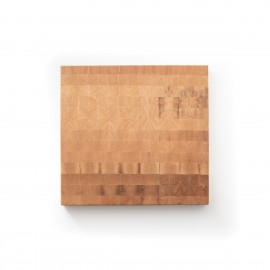Hirnholz Schneidebrett aus Ahorn - 26 x 25 cm
