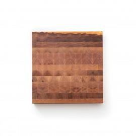 Hirnholz Schneidebrett aus Rüster | Ulmenholz 24,5 x 25 cm x 2,5 cm